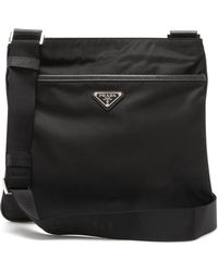 Prada Logo Messenger Bag - Black