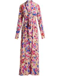 Natasha Zinko - Floral Print Silk Dress - Lyst