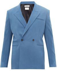 Bottega Veneta カシミア ダブルスーツジャケット - ブルー