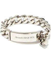 Alexander McQueen - スカルチャーム カーブチェーンブレスレット - Lyst
