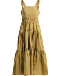 Proenza Schouler - Tiered Cotton Poplin Dress - Lyst
