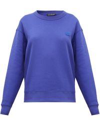 Acne Studios Fairview Face Cotton Sweatshirt - Blue