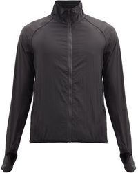 Satisfy Zipped-pocket Technical Shell Running Jacket - Black