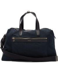 Paul Smith Leather-trimmed Canvas Holdall - Black