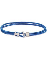 Miansai Orsan Rope-cord And Sterling-silver Bracelet - Blue