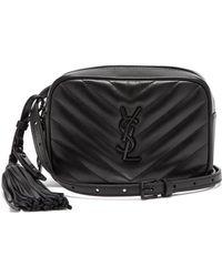 Saint Laurent - Lou Chevron Quilted Leather Belt Bag - Lyst