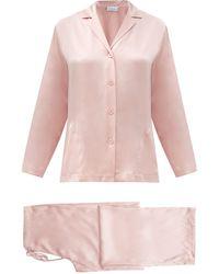 La Perla Silk-satin Pyjamas - Pink