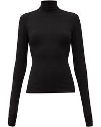 Bottega Veneta High-neck Crepe Top - Black