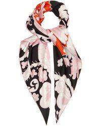 Valentino Garavani Valentino Garavani Floral-print Silk-satin Scarf - Multicolor