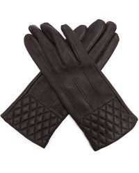 Fusalp Painy Quilted Leather Gloves - Black