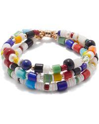 Eliou Ensemble de trois bracelets en plaqué or Somme - Multicolore