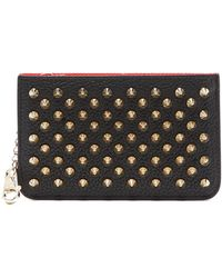 Christian Louboutin Panettone Key Ring Leather Cardholder - Black