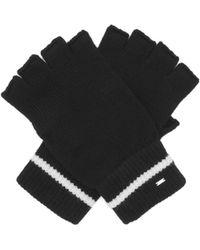 Saint Laurent Wool Fingerless Gloves - Black