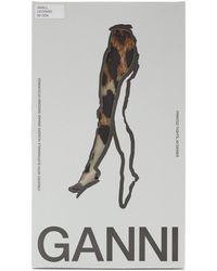 Ganni X Swe-s Leopard-print Tights - Multicolor