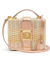 Mark Cross | Harley Small Wicker Basket Bag | Lyst
