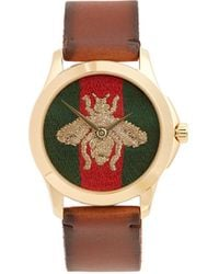 Gucci - Bee Embroidered Watch - Lyst