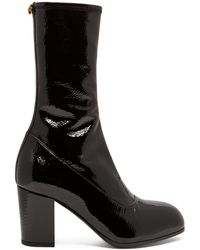 8551eea335b Gucci - Pryntil Patent Leather Ankle Boots - Lyst