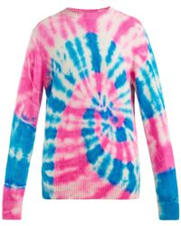 The Elder Statesman Tie Dyed Cashmere Sweater - Multicolour