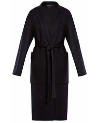 Rochas - Dropped-shoulder Wool Belted Coat - Lyst