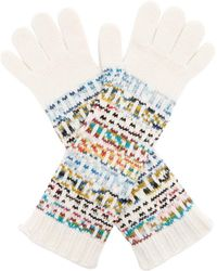 Missoni - Logo Knitted Wool Blend Gloves - Lyst