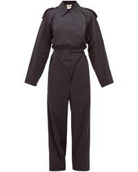 Bottega Veneta コットンブレンド ジャンプスーツ - ブラック