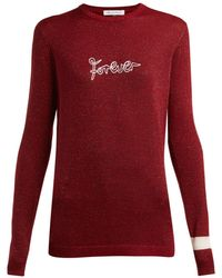 Bella Freud - Forever Metallic Wool-blend Sweater - Lyst