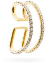 Ana Khouri ジェイミー ダイヤモンド 18kゴールドイヤーカフ - メタリック