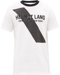 Helmut Lang - ロゴエンブロイダリー コットンtシャツ - Lyst