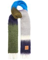 Loewe モヘアウールスカーフ - マルチカラー