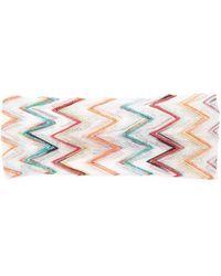 Missoni - Metallic Zigzag Knit Headband - Lyst