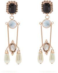 Erdem - Crystal And Faux Pearl Embellished Drop Earrings - Lyst