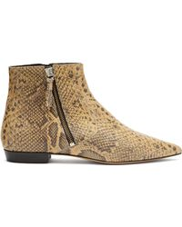 Isabel Marant - Dawie Python-print Leather Ankle Boots - Lyst