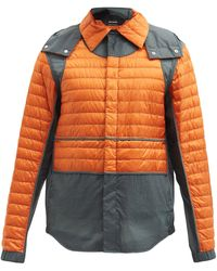 5 MONCLER CRAIG GREEN Chrysemys Quilted-panel Technical Overshirt - Orange