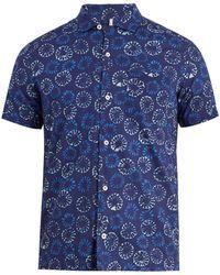 Glanshirt | Jake Geometric-print Short-sleeved Cotton Shirt | Lyst