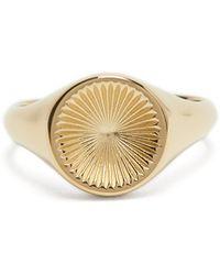Miansai Solar 18kt Gold-vermeil Signet Ring - Metallic