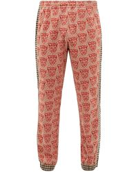Gucci Pantalon de jogging en coton mélangé à jacquard - Multicolore