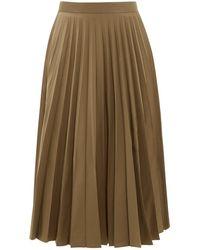 Margaret Howell Sunray Accordion Pleated Faille Midi Skirt - Natural