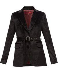 Sies Marjan テリー ベルベット シングルジャケット - ブラック