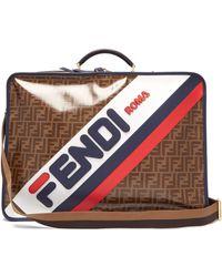 Fendi Mania Ff Coated Canvas Suitcase - Multicolour