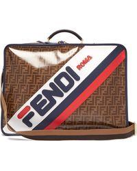 Fendi Mania Ff Coated-canvas Suitcase - Brown