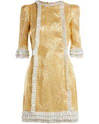The Vampire's Wife - Cate Metallic Silk-blend Dress - Lyst