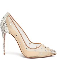 Christian Louboutin Degra 100 Crystal-embellished Mesh Pumps - Multicolor
