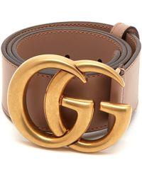 Gucci Gg Monogram Buckle Leather Belt - Multicolour