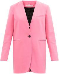MM6 by Maison Martin Margiela カットオフエッジ シングルスーツジャケット - ピンク