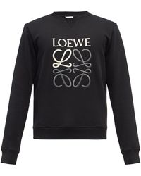 Loewe アナグラム コットンスウェットシャツ - ブラック