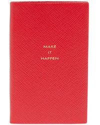 Smythson Make It Happen クロスグレインレザー ノート - レッド