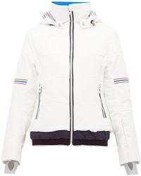 Toni Sailer Antonia Striped Soft-shell Ski Jacket - White