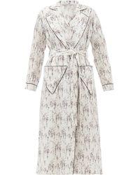 Emilia Wickstead Amana Floral-print Cotton Robe - White