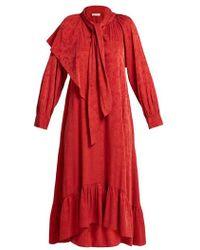 MASSCOB - Brittany Silk-blend Jacquard Dress - Lyst