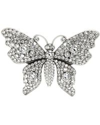 Gucci - Crystal Embellished Butterfly Brooch - Lyst